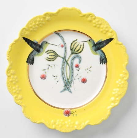 Adorable hummingbird plate from Anthropologie