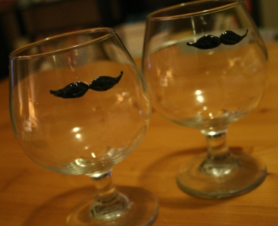 Moustaches Whisky glasses