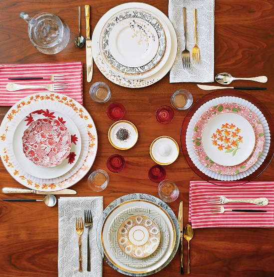 mix and match dinnerware setup from NY Times Clash course & Matching is overrated: Mix \u0026 Match dinnerware | Chiche \u0026 Chouette