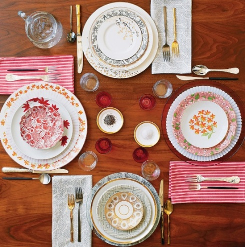 mix and match dinnerware setup from NY Times Clash course