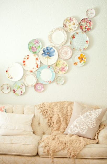 Plate wall deco by Domestic fashionista
