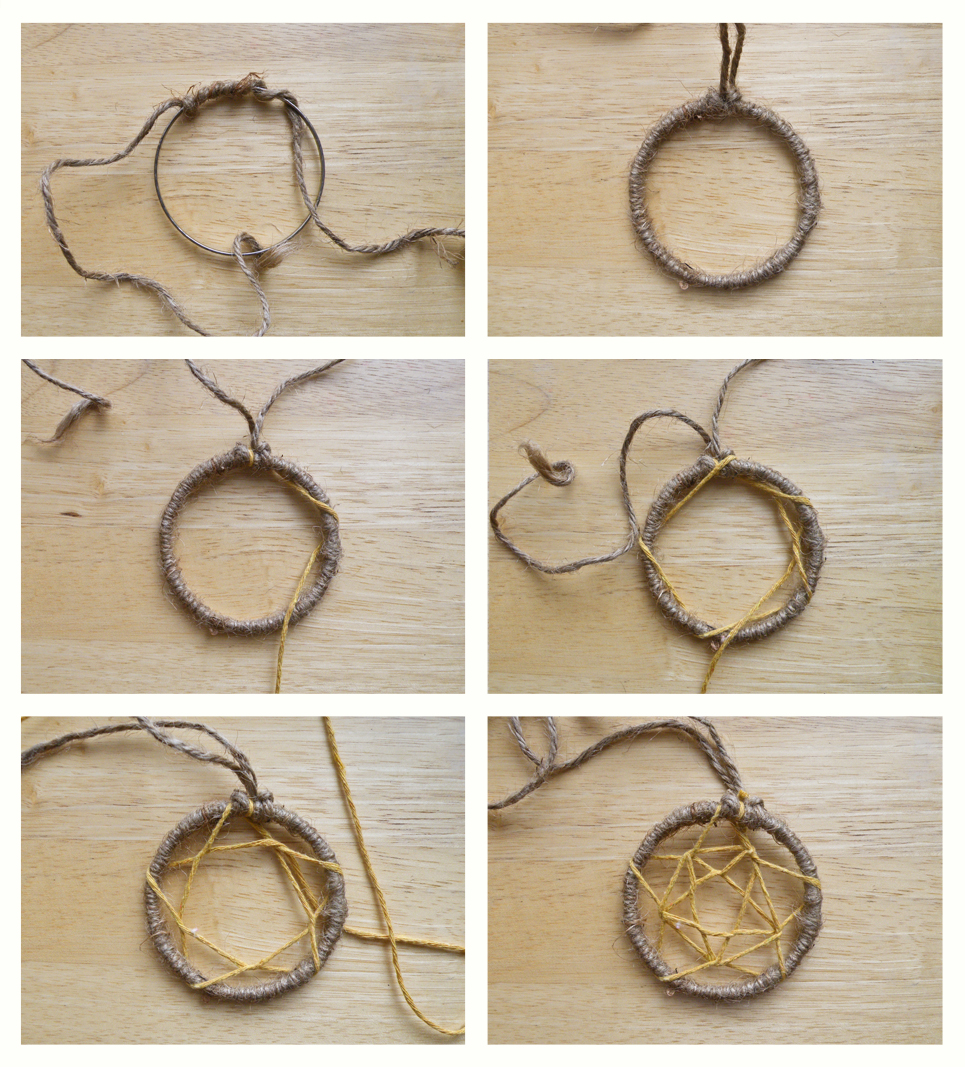 Project chiche chouette for How to tie a dreamcatcher web
